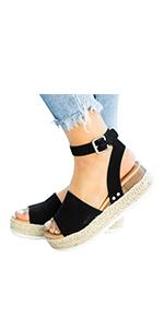63f5e7d49df platform sandal wedge espadrille sandal summer ankle strap platform zapato  de mujer plataforma shoe ...