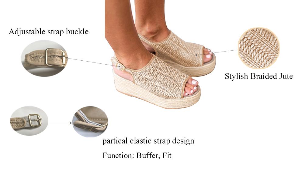 b44f2d831a2 platform sandal wedge espadrille sandal summer ankle strap platform zapato  de mujer plataforma shoe
