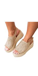 platform sandal wedge espadrille sandal summer ankle strap platformzapato de mujer plataforma shoe