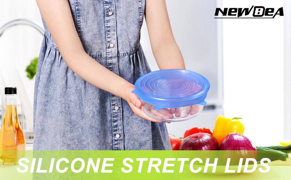 9d302ef8bb1 Amazon.com  NEWBEA 12pcs Silicone Stretch Lids