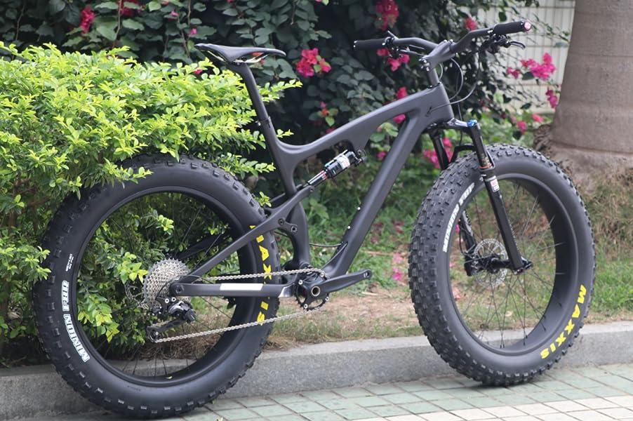 Carbon Full Suspension Fat Bike Frame