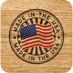 Made in the USA image on wood.
