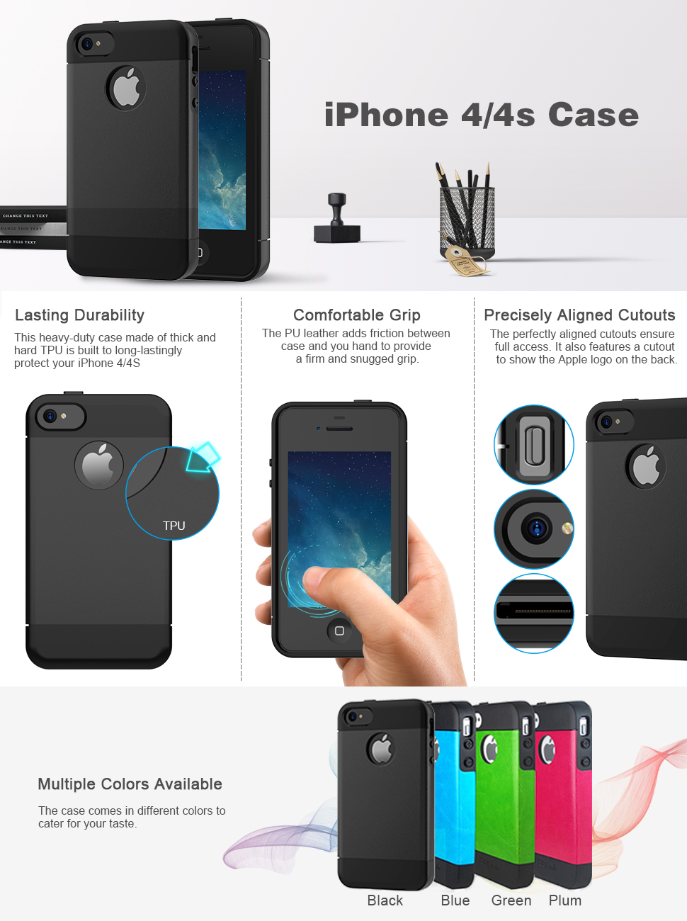 Amazon IPhone 4S Case 4 JETech Gold Super Fit