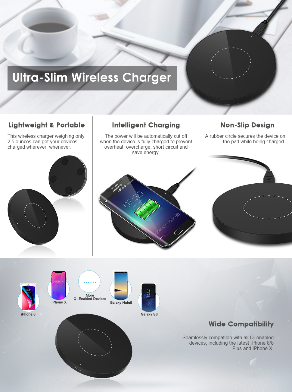 Designer Fast Wireless Charging Station Wire Center Autogage Tachometer Item Aut233904 The Auto Gage Tach Series Is One Of Amazon Com Jetech Universal Charger Qi Pad Cell Rh 8 Silver