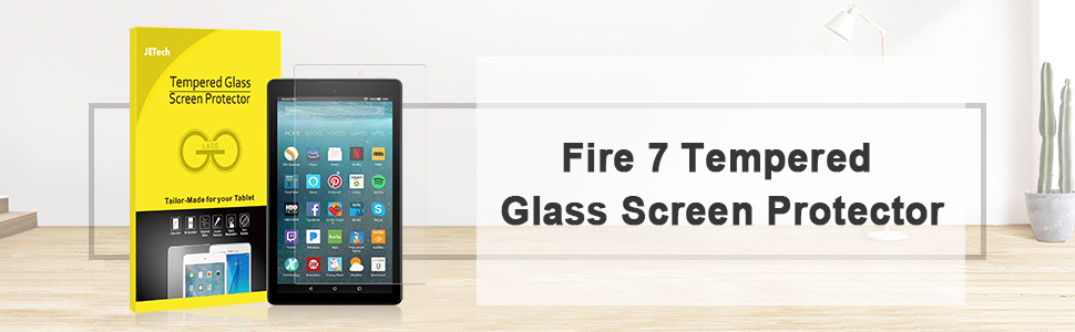 Tempered Glass Film 2017 Release JETech Screen Protector for Amazon Fire 7
