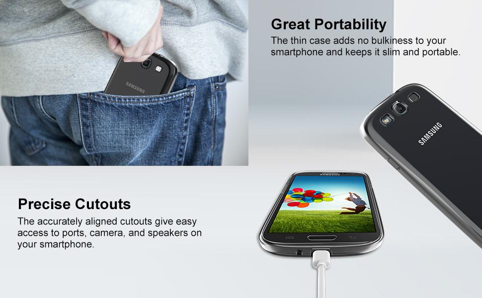 Amazon.com: S3 Funda, JETech Samsung Galaxy S3 caso Cover ...