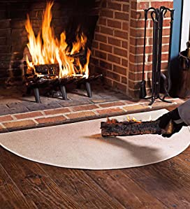 Amazon Com Fire Retardant Fiberglass Half Round Hearth