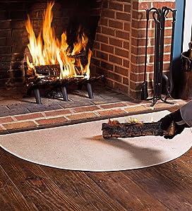Amazon Com Fire Retardant Fiberglass Half Round Hearth