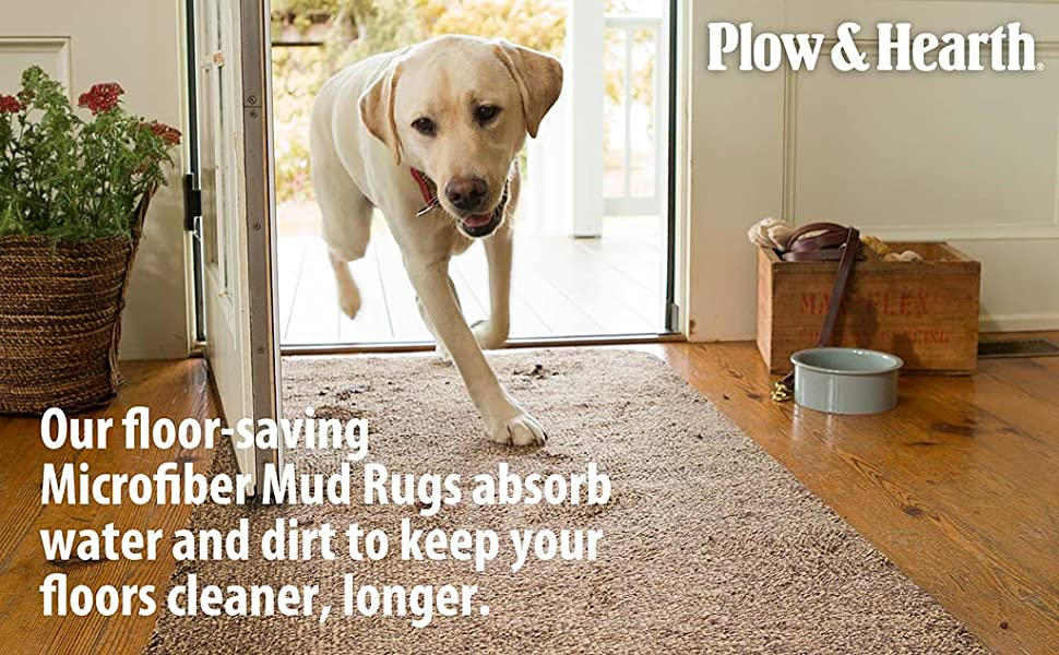Amazon Com Plow Hearth Mud Rug Runner Absorbent Dirt Trapping