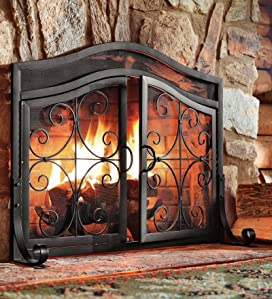 The Ornamental, Wrought Iron Scrollwork Adds Timeless Style To Any Hearth.