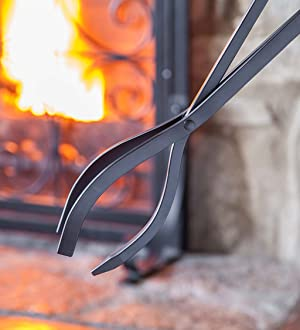 Amazon.com: 5 Piece Hand Forged Iron Compact Fireplace Tool Set Poker Tongs Shovel Broom and Stand Shepherd