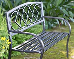 The Celtic Knot Metal Garden Bench From Plow U0026 Hearth Is Ideal For Enjoying  Your Favorite Peaceful Outdoor Spot, Along A Path, Under A Tree Or Among  The ...
