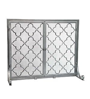 Amazon.com: Large Steel Geometric Fireplace Screen with Doors ...