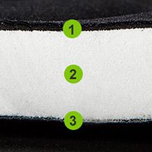 Soft bike seat cushion - memory foam padded.