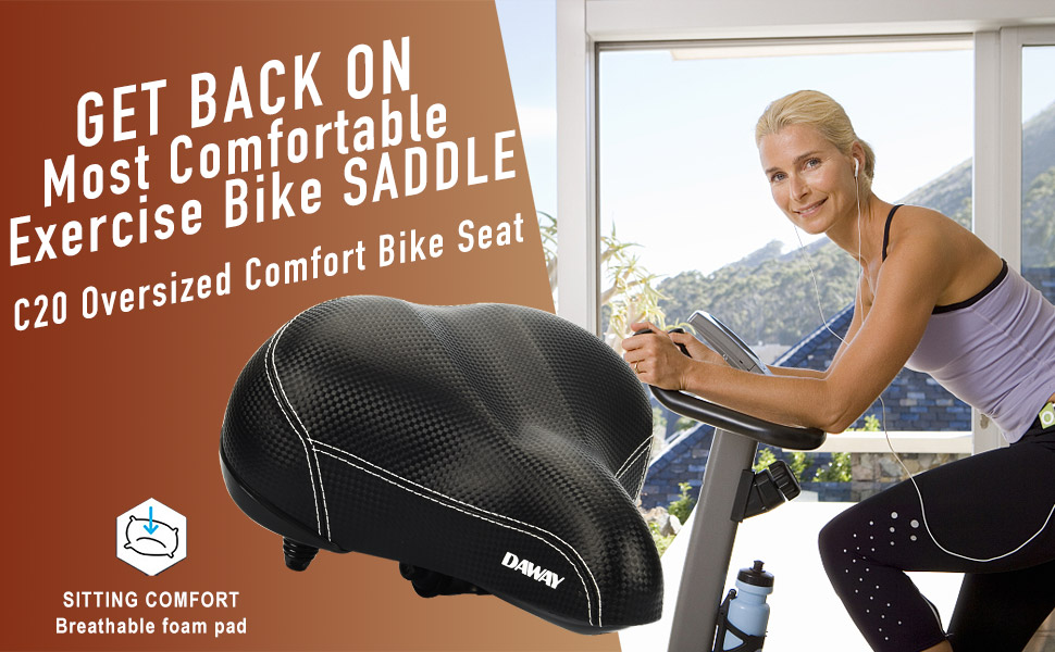 DAWAY C20 comfortable fat bike seat, soft cruiser saddle for men, women, seniors, ladies, etc