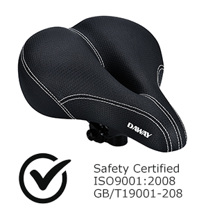 ISO Certified Bicycle SEAT, Ergonomic & Hollow Breathable Design.