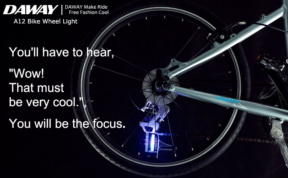 adf7f4a44 Amazon.com : Cool Led Bike Wheel Lights - DAWAY A12 Bright Bicycle ...