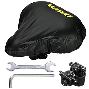 Bonus - Waterproof cover, mounting tools, saddle adapter