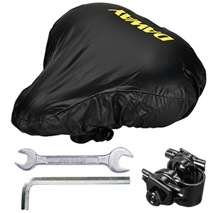 Bonus - Water&Dust Resistant Cover, Mounting Tools, Saddle Adapter
