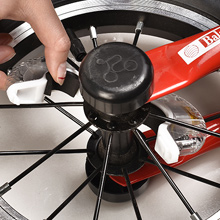 install the wheel light on the bike hub