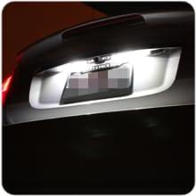 exterior number license plate tag lights
