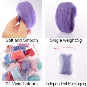 wool fiber for wet felting