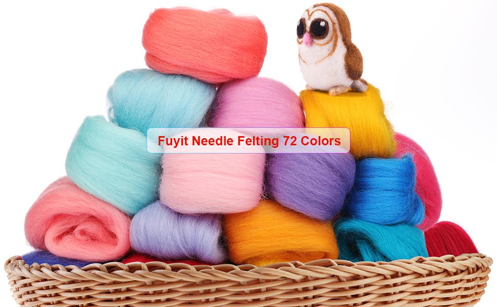 apprx 4oz of 26-28micron felting Hand Dyed Top Spinning fiber Felting fiber supplies multi color felters fiber pack spinning fiber A2419
