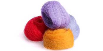 rainbow color wool