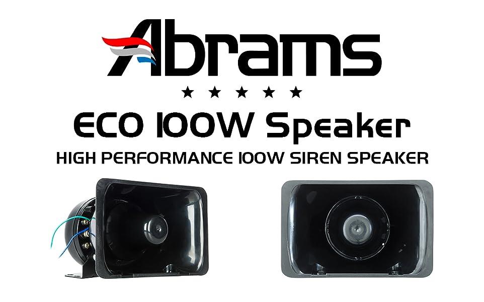 amazon com abrams eco 100 watt siren speaker highamazon com abrams eco 100 watt siren speaker high