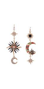 Sun Moon Earrings