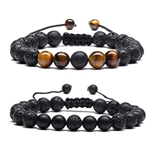 Aromatherapy Anxiety Essential Oil Diffuser Yoga Bracelets for Women men