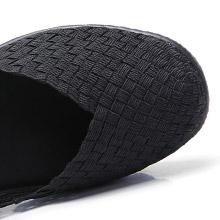 women woven shoes
