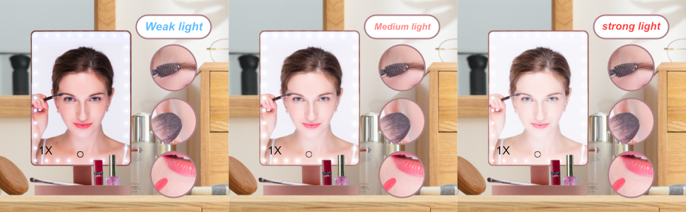 makeup mirror dimmable vanity mirror with lights