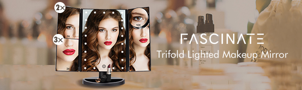 Fascinate lighted mirrors for makeup