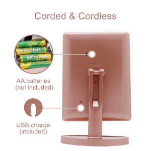 cord & cordless led beauty mirror
