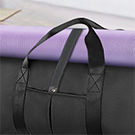 Yoga bag with Elastic bandages for securing your yoga mat