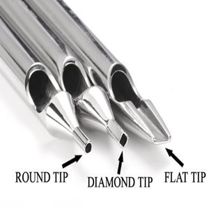 round flat diamond tips