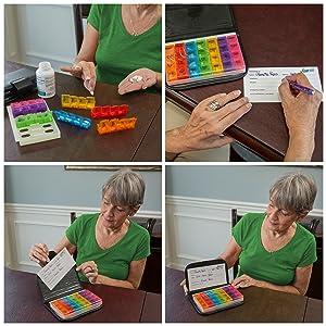 Amazon.com: Pequeño organizador de pastillas para ...