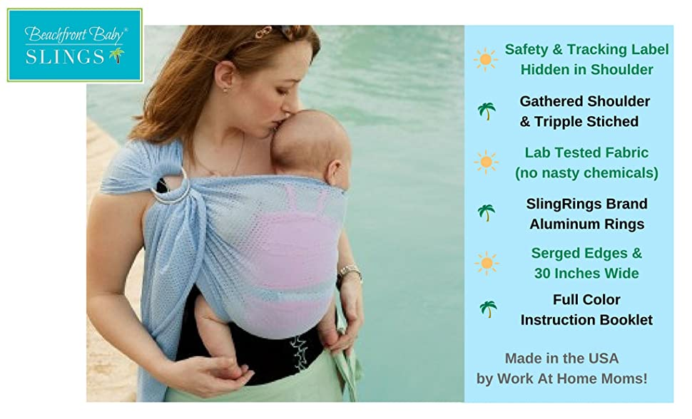 Gudehome Baby Wrap Infant Ring Sling Pouch Newborn To Toddler Travel
