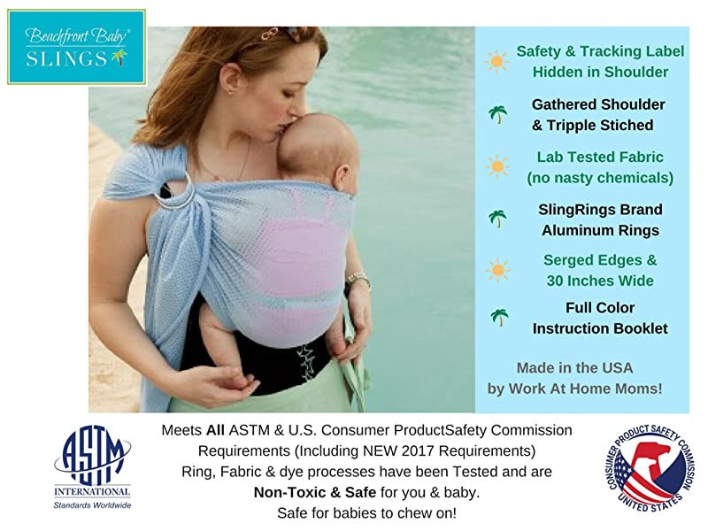 Jiaoly Baby Wrap Breathable Mesh Adjustable Water Ring Sling Carrier