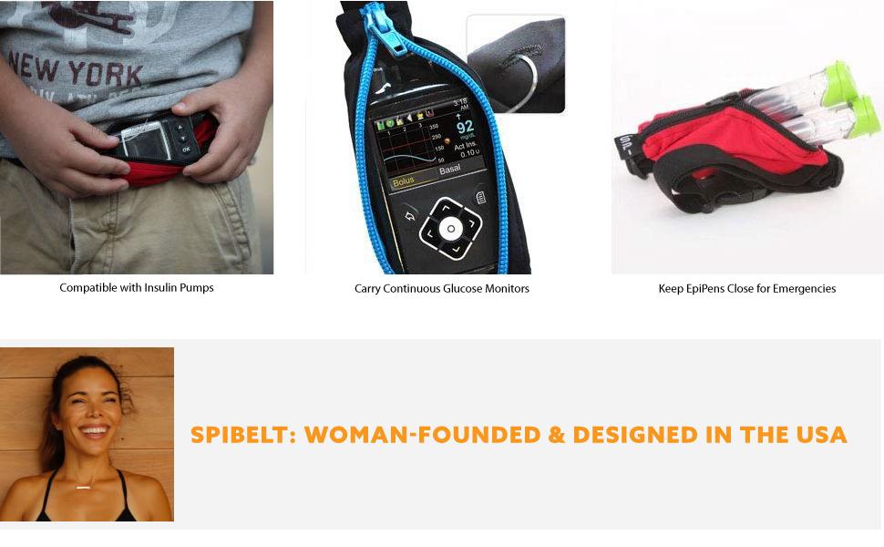 SPIbelt Active Kids Belt: No-Bounce Belt with Hole for Insulin Pump, Medical Devices or Headphones