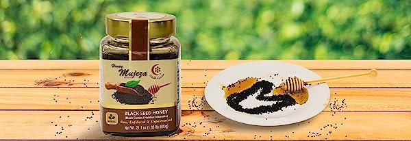 black seed honey 100% pure natural organic cumin unpasteurized unheated kalonji nigella seeds