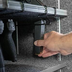 magazine storage ak ar pmag double stack organize ammo clip gun safe accessories gun cabinet safety