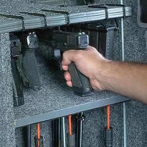 pistol hangun hanger glock .22 caliber H&K Walther storage gun safe accessories storage safety