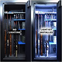 gun safe light kit led motion activated manual battery powered