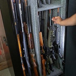 Rifle Rods storage gun safe shotguns long guns organize gun safe accessories storage safety