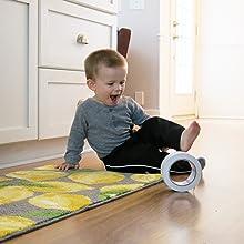 Kid friendly carpet tape