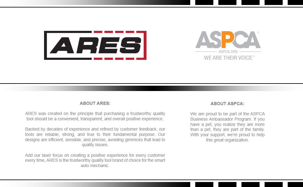 ARES Tool is a proud ASPCA sponsor