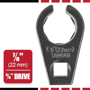 3/8-inch Drive by 7/8-inch (22mm) Offset Oxygen Sensor Socket