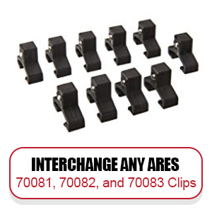 Interchange any ARES clips available in 1/4, 3/8 and 1/2 inch drive sizes
